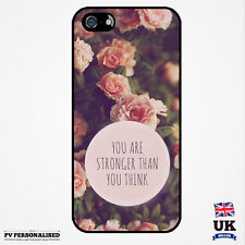 Cute Pink Roses Inspiring Words Fashion Case Cover for iPhone Samsung Galaxy HTC