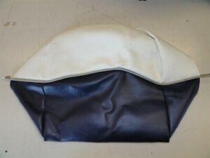 TRACKER CUSHION SEAT SKIN INSERT 04 BLUE / GRAY / OFF WHITE MARINE BOAT
