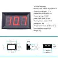 "0.56"" 4-30V 2 Wires Digital Voltmeter Indicator Voltage Meter Display Module"