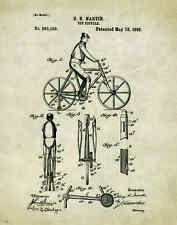 Bicycle Patent Poster Art Print Vintage Bike Parts Service Repair Toys PAT190