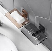 Bathroom Soap Dish Shower Plate Box Storage Holder Case Wall mounted Modern Tray