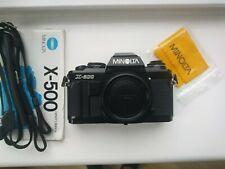 EXC # Minolta X-500 SLR film camera # NEW light seals # BLACK # not X-700