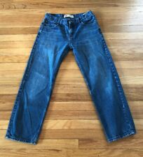 Boys Levis 569 Loose Straight Fit Jeans Size 18 Reg 29X29