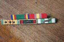 Vietnam era Us military ribbon bar mount group Campaign Service star devices