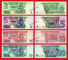 ZIMBABWE SET 2 5 10 & 20 Dollars dolares 2019-2020 Pick NEW  SC / UNC