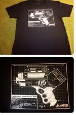 Serenity Firefly Official Lassiter Laser Pistol MK1 Gun Blueprint Men 3XL Shirt
