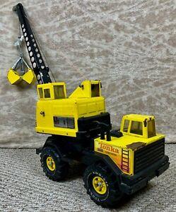 *****Tonka Turbo Diesel Mighty Crane Bucket Shovel  Wheels RARE NICE 1980'S*****