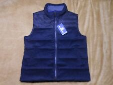 Hart Schaffner Marx Blue Down Filled Puffer Vest Jacket Mens Large New With Tags
