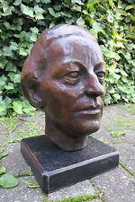Kopf / Büste Frau / Dame Bronze Monogrammiert SN / NS Skulptur / Figur 1930 erJ.