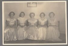 [57998] Circa 1950's PHOTOGRAPH OF FIVE YOUNG WOMEN IN ANSONIA, CONNECTICUT