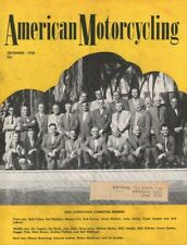 1958 December American Motorcycling - Vintage Motorcycle Magazine Back-Issue