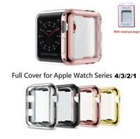 iWatch Apple Watch Series 4 3 2 1 Color protector Cover Case w/Screen 38mm 42mm
