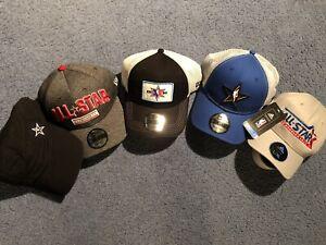 NBA All Star Game Hats Bundle New Era 9Forty Adidas NWT 5 Hats Basketball