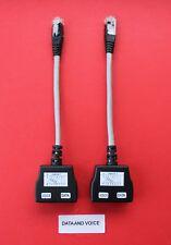 2 X RJ45 Cat5 Divisor de línea Economizador Datos a voz cumple 1 Socket de datos en 2
