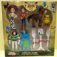 TOY STORY 4 WOODY JESSIE BUZZ BUNNY DUCKY FORKY ACTION FIGURE KID MODEL TOY +BOX