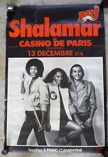 TRÈS RARE AFFICHE ORIGINALE GROUPE SHALAMAR AU CASINO DE PARIS / DISCO