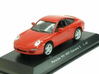 Scale model car 1:43, Porsche 911 (997) Carrera S, red
