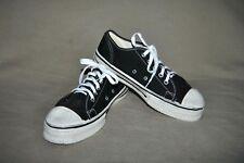 Vintage Super Shoe Early Athletic Sport Gym Shoes Black Canvas sz 5.5 Unworn