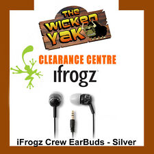 iFrogz EarPollution Crew Graffiti Earbuds for iPod,iPhone,iPad & Android-Silver
