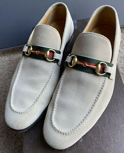 Mens Gucci Queen Loafer Slipon in Oatmeal Size 9G