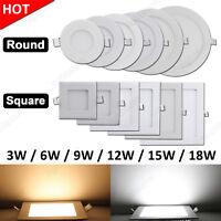 3W 6W 9W 12W 15W 18W Recessed LED Panel Light Epistar Ceiling Down Lights Lamp