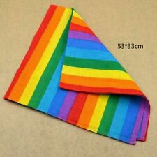 Multi-use Cotton Rainbow Gay Pride Bandana Scarf Headwear Face Mask Neck Scarf