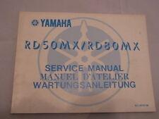 YAMAHA RD50 RD80 MX MANUEL D'ATELIER SERVICE MANUAL WARTUNGSANLEITUNG
