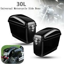 Paar Motorrad Seitenkoffer Hartschalenkoffer Satteltaschen Koffer Glanz