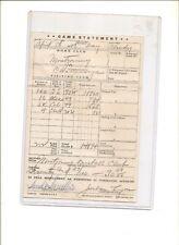 1947 ticket reconciliation, Montgomery vs. Chattanooga baseball