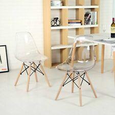 4er Set Esszimmerstühle Wohnzimmerstuhl Esszimmerstuhl Transparenter Küchenstühl