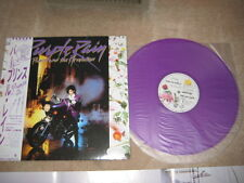 PRINCE PURPLE RAIN Sample Japan OBI Promo PURPLE VINYL LP RARE Japanese