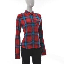 Hollister Women's Causal Shirt top Button Up One Pocket Long Sleeve Plaid Size L