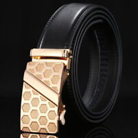 Luxury Men's Automatic Buckle Leather Belt Classic Waist Waistband Strap Belts