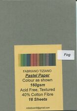 "A Pack of 16 sheets of "" FABRIANO TIZIANO PASTEL PAPER "" Colour F O G "" ."
