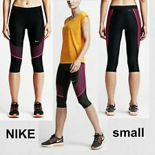 Nwot Nike Power Speed Running Tight Compression Capri 801694-013 Size Small