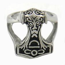 Stainless Steel Thor's Hammer Sz 11 ring