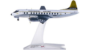 1:200 Herpa Continental Airlines Vickers Viscount 800 Airplane Diecast Model