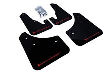 Rally Armor Mud Flaps Guards for 04-09 Mazda3 Mazdaspeed 3 (Black w/Red Logo)
