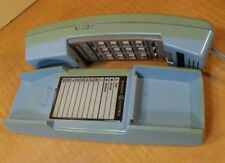 FUNKY VINTAGE BLUE /GREEN GENERAL ELECTRIC TOUCH TONE WALL/DESK PHONE W/CORD