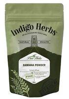 Damiana Powder - 100g - (Quality Assured) Indigo Herbs