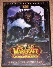 World of Warcraft Cataclysm Behind-The-Scenes DVD Limited Edition w/ Inserts
