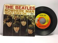 Beatles - What Goes On / Nowhere Man 45 - Capitol 5587 - Tested VG Vinyl