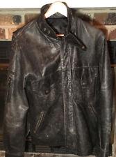 Vintage Autehentic Mens Harley Davidson Black Leather Jacket Small Zip/Snap