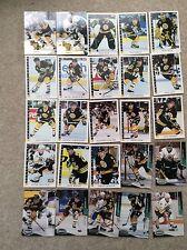 Boston Bruins Hockey Cards Lot of 157 Neely Borque Oates Moog Iafrate Wesley
