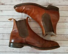 Vintage W S Foster & Son Mens Tan Leather Boots Size UK 10.5