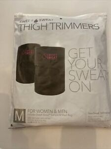 sweet sweat thigh trimmers; medium pink and black neoprene.