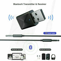 USB Bluetooth 5.0 Transmitter Wireless Audio Stereo Adapter Receiver Dongle new