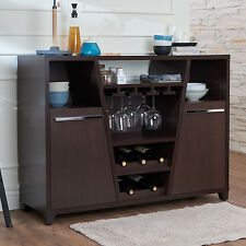 Buffet Sideboard Cabinet Dining Server Storage Table Kitchen Wine Bottle  Shelf