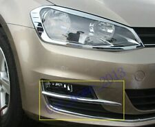 Car Chrome Front Fog Light Lamp Eyebrow Cover Trim  for VW Golf 7 MK7 2014 2015