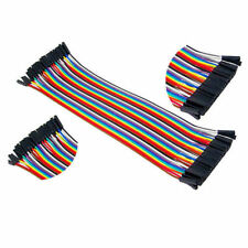 40Pcs Male To Male Breadboard Jumper Wire Cable For Arduino 10cm 2.54mm